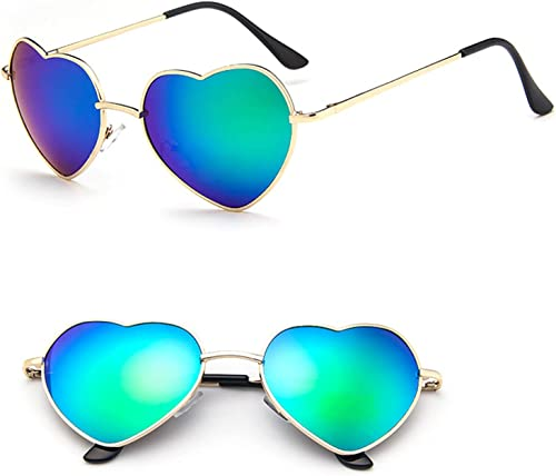 high quality Heart Shaped Sunglasses Metal Frame Lovely sale Aviator Style Eyewear UV Protection Non-polarized popular Sun Glasses outlet online sale