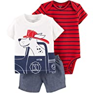 Carter's Baby Boys' 3-Piece Little Short Sets