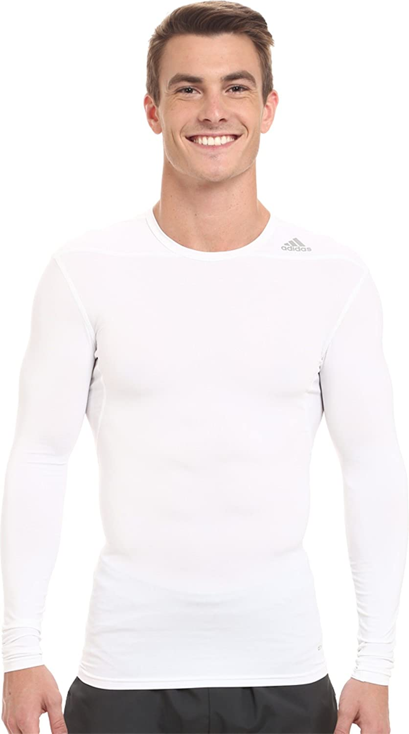 adidas Purchase Mens Tech-Fit Base Warm Long Top Mock White Max 60% OFF Sleeve