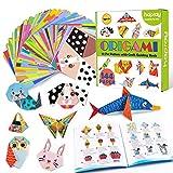 hapray Origami Papier mit 96-seitiges Origami Buch für Kinder, 152 Blatt doppelseitiges Origami Faltpapier, deutsche und englische Bedienungsanleitung, DIY Kunst bastelpapier, Bastelpapier Set