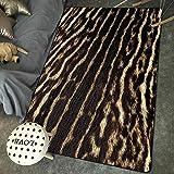 Wzz Tapis De Fourrure Animal Imprimé Léopard/Zèbre/Vache/Tigre 3D Créatif pour Tapis De Salon Chambre Tapis,C,80x120cm