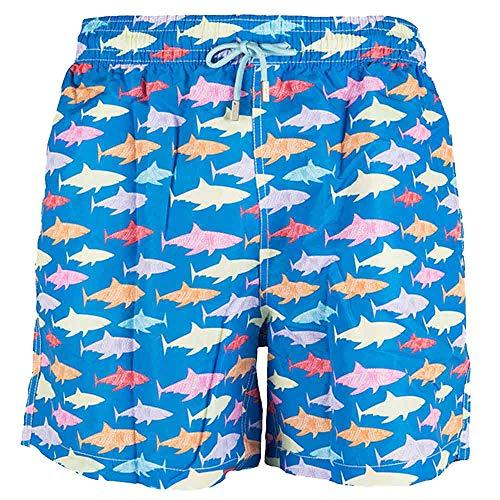 TINTARELLA Traje de baño Multicolor para Hombre y Teen, Modelo Tiburones (Talla S)