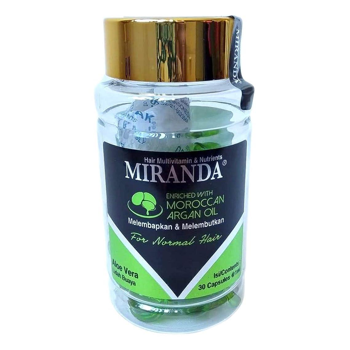 MIRANDA ミランダ Hair Multivitamin&Nutrients ヘアマルチビタミン ニュートリエンツ 洗い流さないヘアトリートメント 30粒入ボトル Aloe vera アロエベラ [海外直送品]