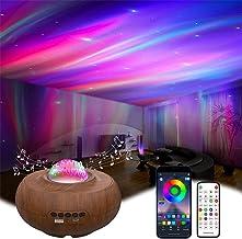 LUEROD Aurora Projectielamp Smart APP Controle met Bluetooth Speaker 7 Soorten Variabele Light Star Projector voor Slaapka...