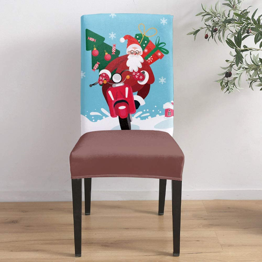 Dining Room Stretch Chair Cover Slipcover Claus Shopping Direct stock discount Santa Max 83% OFF S