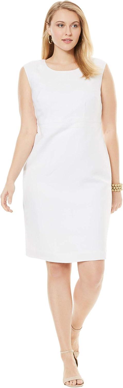 Jessica London Women's Plus Size Linen Sheath Dress
