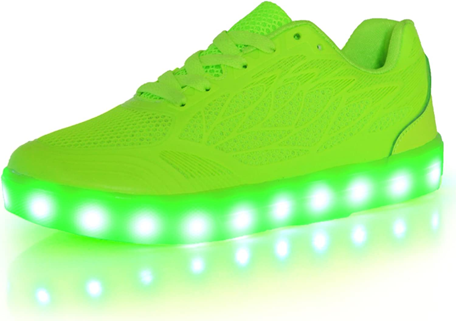 OUYAJI New 7 colors flashing LED light up USB charging Sneakers walking dancing shoes for womens girls