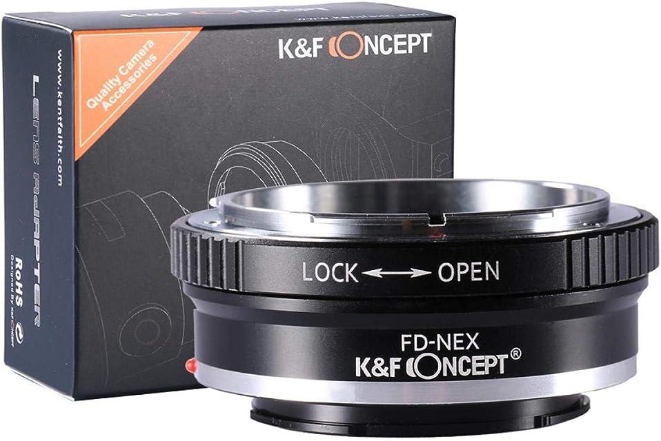K&F Concept Canon FD FL Adaptador ∙Compatible con Cámara Sony E-Mount (NEX/Alpha) ∙ Adaptador para Lente Canon FD