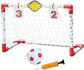 Keliour Fotbollsnät bärbar fotbollsmål för barn bärbart fotbollsmål 74 x 45 cm för barns fotbollsträning (färg: Som visas,...