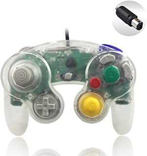 Reiso 1 Pack NGC Controller Classic Wired Controller for Wii Gamecube(Clear White)