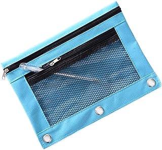 Funny live B5 Size Double Zipper 2 Pocket Pencil Bag, Transparent Mesh File Pouch Case, Zip Binder Pencil Bags Pencil Case...