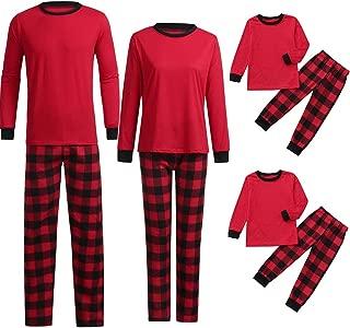 Kids Baby Girls Boys Print Blouse Pants Family Pajamas Matching Christmas Set