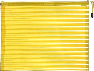 Apple 8856 Plastic Zipper File, A4 Size - Yellow