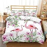 REALIN Bettwäsche Flamingo Bettbezüge Set