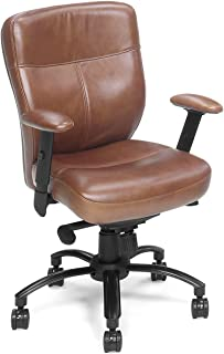 Hooker Furniture Seven Seas Executive Swivel Tilt Office Chair in Brown Keats
