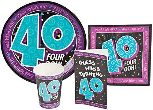 Look Who's 40 Party Tableware Party Supply Pack