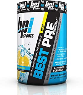 BPI Sports Ketogenic Pre-Workout Supplement - Best Pre-Workout - Carb-Free - Burns Fat for Energy - Helps Preserve Lean Mu...