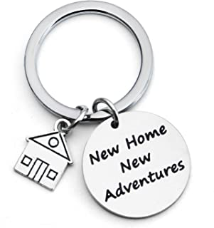 New Home New Adventures Keychain First Home Gift Housewarming Gift Realtor Closing Gifts House Keyring