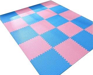 MAHFEI Foam Interlocking Floor Mats Gym Living Room Floor Protection Baby Crawling Buffer Non-slip Easy To Clean PE, Multi...