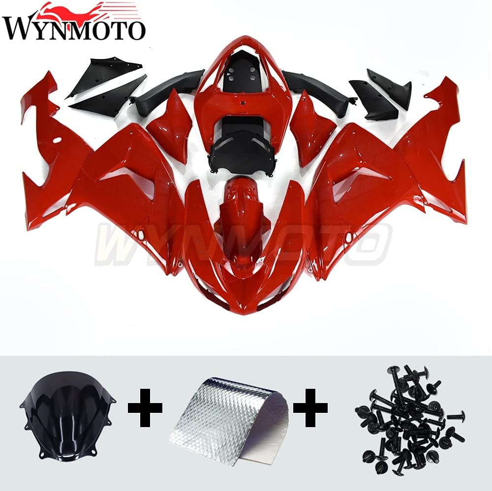 WYNMOTO Complete Cowlings Fairings Genuine Compatible 200 ZX10R Max 78% OFF 2006 for