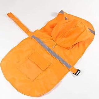 Impermeable con cinta reflectante para perros, abrigo grande para mascotas, ropa para mascotas, impermeable para perros, o...