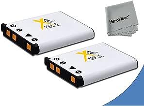 2 High Capacity Replacement Nikon EN-EL10 Batteries for Nikon Coolpix S60, S80, S205, S200, S210, S220, S500, S510, S520, S570, S600, S700, S3000, S4000, S5100 Digital Cameras