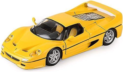 KKD Scale-Modellfahrzeuge Gelb Modellauto Ferrari Modell Rafa 458 Sportwagen Modell Simulation Legierung Spielzeugauto Modell 1 24 Statisches Modell Geburtstagsgeschenk Mini Fahrzeuge