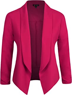 807507b71c0 Michel Womens Casual Blazer Work Office Lightweight Stretchy Open Front  Lapel Jacket with Plus Size