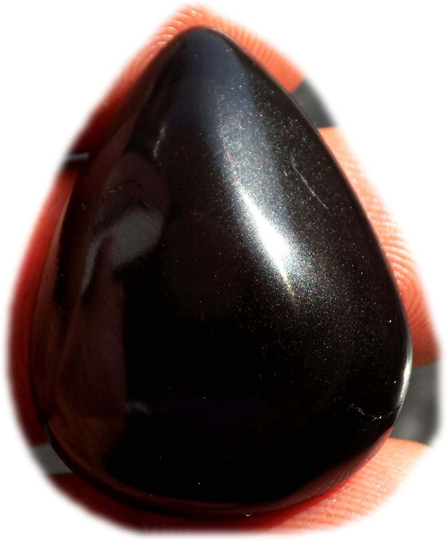 Surbhi Crafts Black Rainbow Obsidian Cabochon Classic Semi Max 89% OFF Natural Prec