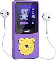 """Zacro Reproductor MP3 para Niño 8GB,Reproductor MP3 Niño Pantalla 1.8"""" LCD,Cartoon Multifuncional de Videojuegos, de Música,Vídeo Radio FM,Apto para 32GB extendido MP3 MP4 de Multimedia Niño,Violeta"""