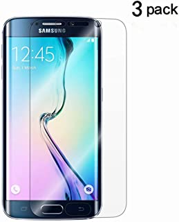 Galaxy S6 Edge Screen Protector[Not Glass],TANTEK [Anti-Bubble] [HD Ultra Clear] TPU Film Curved Edge to Edge Screen Protector for Samsung Galaxy S6 Edge(NOT S6),[3-Pack]