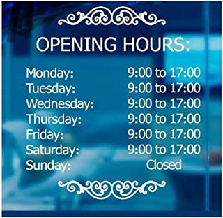 LokaUS Professional Business Hours Sign kit, 20x20 Inches Changeable Signs for Business, Customize Window Sign for Business, Right Side Hours of Operation Sign, Open Store Hours Sign (Outer Side)