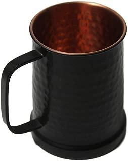 German Style Black Hammered Copper Beer Stein - 100% Pure Heavy Gauge Copper Beer Mug