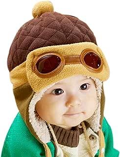 Kafeimali Baby Boys Girls Crochet Earflap Winter Warm Caps Beanie Pilot Aviator Cartoon Hats