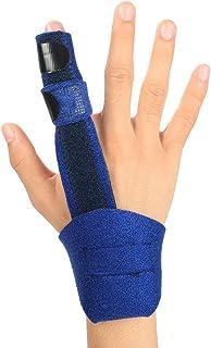 Hossom Férula para Dedo en Gatillo, Aluminio Ajustable Férula de Dedo, Dedo de Martillo, Fracturas de Dedos,Cuidados Postoperatorios y Alivio del Dolor Soporte para Dedo Férula la Mano