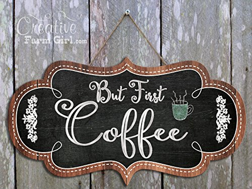 But First Coffee, Cute Coffee Sign, Sign for Coffee Bar, But First Coffee Wall Hanging