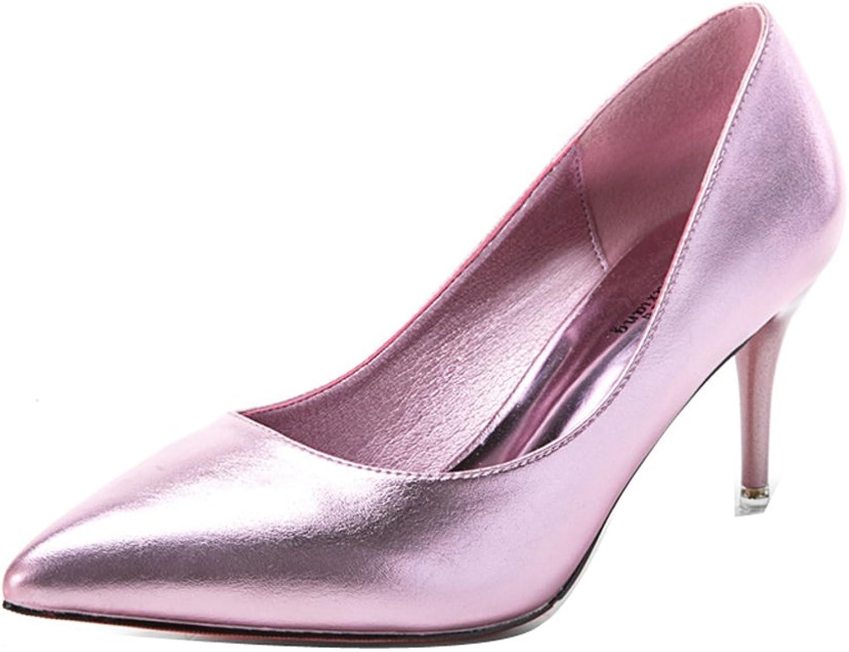 Ladola Womens Formal Spikes Stilettos Waterproof Light-Weight Urethane Pumps shoes