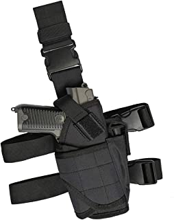 GHFY Tactical Drop Leg Holster, Thigh Pistol Gun Holster, Right Hand Adjustable