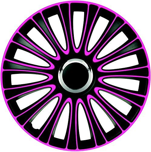 ZentimeX Z733002 Radkappen Radzierblenden universal 15 Zoll pink-black