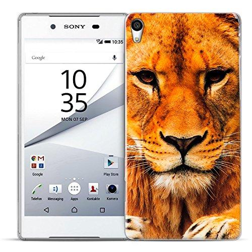 Preisvergleich Produktbild Conie PC39243 Picture Case Kompatibel mit Sony Xperia X,  Rückschale mit Motiven Silikon TPU Backcover für Xperia X Bumper Motiv Löwin