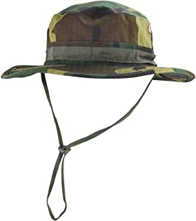 jffcestore Men's Camo Boonie Hat Fishing Sun Hat Wide Brim Bucket Hat with Adjustable Strap