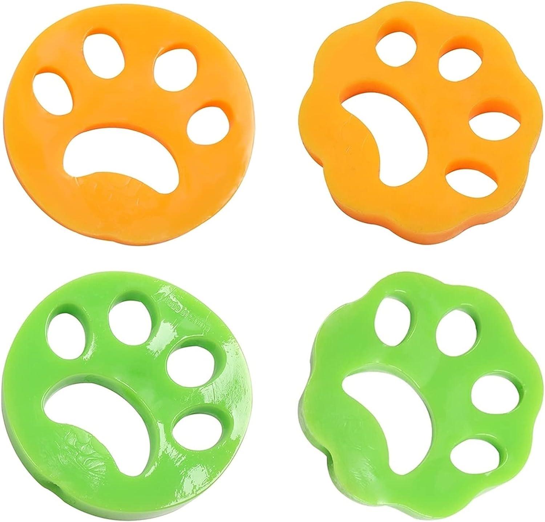 HONGECB Lavadora de pelo para mascotas, removedor de pelo de mascotas para lavandería, bolas removedor de pelo de lavandería Reutilizable, Quitar el pelo de perros y gatos en la ropa, 4 piezas