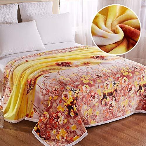Willlly zomerdeken, verdikte sprei chic casual van coral-fleece, dekbed, airconditioning, deken voor kinderen, 200 x 230 cm (79 x 91 inch)