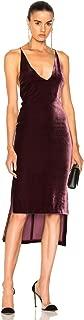 Dion Lee Asymmetric Velvet Cami Midi Dress- Merlot -