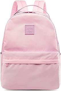 Leaper Water Resistant Girls School Backpack 15.6 Inch Laptop Pinkish Purple