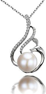 CS-DB Pendants 1.1ct Swan Trendy White Stone Silver Necklaces