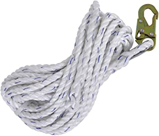 fire Rescue Rope with Steel Wire core Rope TY BEI YI GAO Safety Rope Safety Rope Safety Rope 20mm Polyester Safety Rope Aerial Work Rope Color : 20mm, Size : 30m