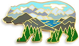 Pinsanity Bear Mountain Landscape Enamel Lapel Pin
