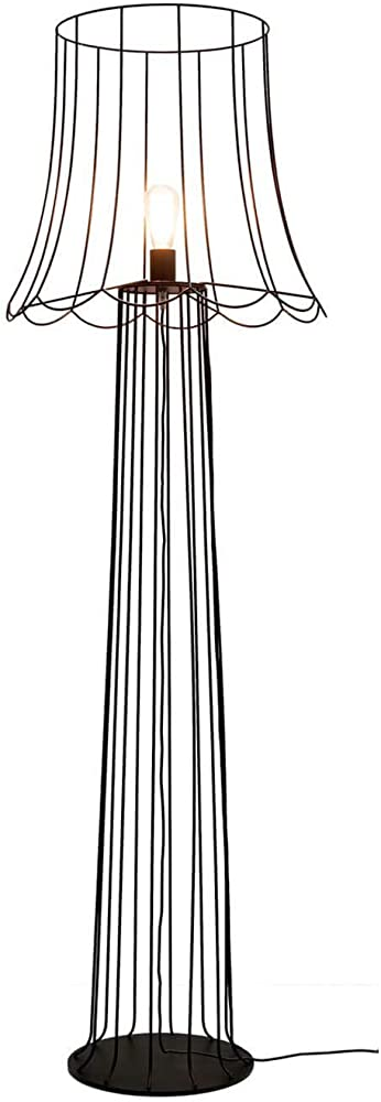 Karman lucilla ,lampada da terra con gabbia metallica color ruggine H6051VN