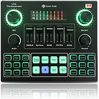 GENERIC GAX-V9 Bluetooth Mixer Sound Card USB PC خارجي الهاتف المحمول Liveo Microphone بطاقة صوت